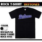 ロックtシャツ バンドtシャツ パンク Deftones デフトーンズ 野球チーム風ロゴ Mサイズ Lサイズ 黒色 白色