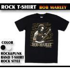 ロックtシャツ バンドtシャツ パンク BOB MARLEY ボブマーリー 音楽をつくるボブ Mサイズ Lサイズ 黒色 白色