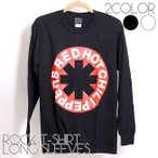 ロックtシャツ バンドtシャツ パンク 長袖 Tシャツ メンズ Red Hot Chili Peppers レッド ホット チリ ペッパーズ Mサイズ Lサイズ 黒色