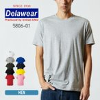 Tシャツ メンズ 半袖 無地 薄手 白 黒 など deslawear(デラウェア) 4.0オンス プロモーションTシャツ 5806