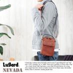 青木鞄 Lugard 本革ショルダーポーチ メンズ レザー 日本製 2way 縦型