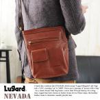 青木鞄 Lugard 本革ミニショルダーバッグ メンズ 日本製 レザー 縦型
