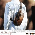 青木鞄 本革ボディバッグ メンズ ワンショルダー 日本製 la GALLERIA Zingaro
