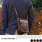 ミニショルダーバッグ メンズ 縦型 iPad miniポケット付き LINA GINO