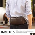 ショッピングウエストポーチ HAMILTON 馬革ウエストバッグ メンズ 本革 レザー ヒップバッグ