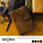 BRIT HOUSE ヤギ革システム手帳 A5サイズ 本革 日本製 メンズ TG-3020