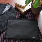 ガーメントバッグ メンズ ブラック LINA GINO  スーツ入れ ガーメントケース 三つ折り 出張 旅行