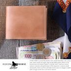 コードバン二つ折り財布 メンズ box型小銭入れ FLYING HORSE