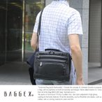 男性用 ボックス型ショルダーバッグ ナイロン 止水ジッパー 鞄