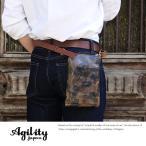 AGILITY 2wayシザーバッグ 迷彩レザー メンズ 日本製 本革
