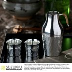 錫製 ちろり 酒器 セット 錫光 日本製 錫酒器 つちめ 3点セット (ちろり 盃2個) ロクロ仕上げ  高級 徳利 おちょこ