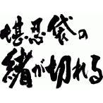 """""""堪忍袋の緒が切れる(横書)""""書道家が書くかっこいい漢字トレーナー"""