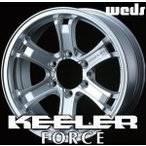 WEDS KEELER FORCE 16inch 7.0J PCD:139.7 穴数:6H カラー:HYPER SILVER ウェッズ アドベンチャー キーラー フォース