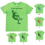 デザインTシャツ カエル FLOG THE FLOG! ライトグリーン MLサイズ