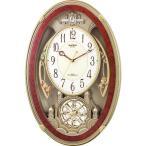 ショッピング時計 RHYTHM リズム時計 クロック 電波掛け時計 メロディ付 スモールワールドクイーンダムDX 4MN484RH23 (4MN484-023の新モデル)