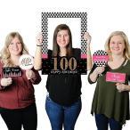 チック 100th Birthday - ピンク, ブラック and ゴールド - Birthday パーティー Photo Booth海外取寄せ品