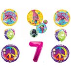 TROLLS ピース 7th ハッピー Birthday パーティー バルーン デコレーション サプライ Poppy Branch ムー海外取寄せ品