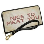 ウォレット Clutch Nice To Meat You Ground Minced Meat BBQ with リムーバブル W(海外取寄せ品)