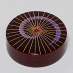 茶道具/ 香合 溜塗 切立香合 蛇の目傘蒔絵