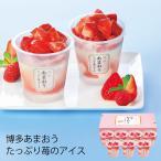 (産地直送・送料無料) 博多あまおう たっぷり苺のアイス (-3012-803-)   内祝い ギフト 出産内祝い 引き出物 結婚内祝い 快気祝い お返し 志