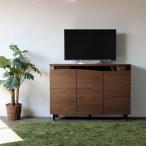 テレビ台 ハイタイプ 幅120cm ブラウン 完成品 木製 fax台 ルーター収納 カウンター下収納 北欧 型 スリム