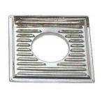 ステンレスガラリ付き眼鏡板(平)  φ120mm(φ106mm) 2枚1組