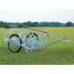 (法人様限定で革手袋進呈中) ハラックス 輪太郎 BS-1208II アルミ製 大型リヤカー 積載量180kg (個人宅配送可)