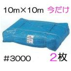 (期間限定特価 2枚組) 特選 ブルーシート 厚手 #3000 10m×10m (厚手 防水 強力タイプ) 10.0M×10.0M (zs24)