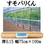 ハウス スソ張り用農PO すそバリくん 厚さ0.15mm×幅75cm×長さ100m すそ張りシート