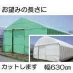 農POフィルム ハクリョク 厚み0.15mm×幅630cm×長さ30m 重さ約28.9kg 30m価格 両面仕様 (白・緑) 農業用格納庫 倉庫 三菱ケミカルアグリドリーム