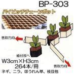ニッテン バイピッチ チェーンポット BP-303 264本付150冊 BP303 ネギ、ニラ、軟弱野菜に 日本甜菜製糖