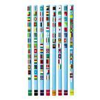 クツワ STAD 鉛筆 2B 国旗大百科 RF019 1ダース(5セット)
