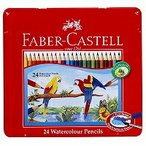 ファーバーカステル 水彩色鉛筆 平缶 24色セット TFC-WCP/24C(5セット)