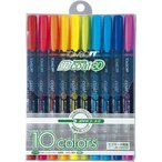 トンボ鉛筆 蛍光ペン 蛍コート80 10色 WA-SC10C(10セット)