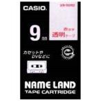 カシオ計算機 透明テープ XR-9XRD 透明に赤文字 9mm 4971850141679