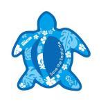 ホヌリボンマグネット ホヌ型  ブルー / ライトブルー S-size  RibbonMagnet 亀 メール便で送料100円
