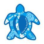 ホヌリボンマグネット ホヌ型  パターン ブルー / ライトブルー L-size RibbonMagnet 亀 メール便で送料100円