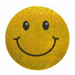 Yahoo!泰国屋・taikokuya ヤフー店スマイリー ステッカー ラメタイプ(SMILEY sticker) 6cm×6cm type A - タイ雑貨 スマイル 輸入 雑貨 スーツケース トランク 旅行 グッズ 海外-