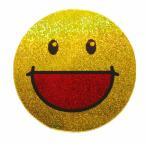 Yahoo!泰国屋・taikokuya ヤフー店スマイリー ステッカー ラメタイプ(SMILEY sticker) 6cm×6cm type C - タイ雑貨 スマイル 輸入 雑貨 スーツケース トランク 旅行 グッズ 海外-