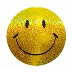 Yahoo!泰国屋・taikokuya ヤフー店スマイリー ステッカー ラメタイプ(SMILEY sticker) 6cm×6cm type D - タイ雑貨 スマイル 輸入 雑貨 スーツケース トランク 旅行 グッズ 海外-