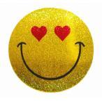 Yahoo!泰国屋・taikokuya ヤフー店スマイリー ステッカー ラメタイプ(SMILEY sticker) 6cm×6cm type F - タイ雑貨 スマイル 輸入 雑貨 スーツケース トランク 旅行 グッズ 海外-