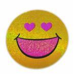 Yahoo!泰国屋・taikokuya ヤフー店スマイリー ステッカー ラメタイプ(SMILEY sticker) 6cm×6cm type J - タイ雑貨 スマイル 輸入 雑貨 スーツケース トランク 旅行 グッズ 海外-