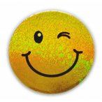 Yahoo!泰国屋・taikokuya ヤフー店スマイリー ステッカー ラメタイプ(SMILEY sticker) 6cm×6cm type L - タイ雑貨 スマイル 輸入 雑貨 スーツケース トランク 旅行 グッズ 海外-