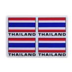 ステッカー タイ 王国 国旗(THAI 4p-英語文字 mix ) S サイズ t-A /  雑貨  アジアン シール