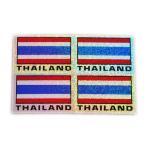 ステッカー タイ 王国 国旗 (THAI 4p-英語 文字 ラメ mix) S サイズ t-A /  雑貨  アジアン シール