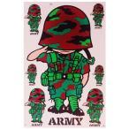 軍 ミリタリー グッズ タイ王国 陸軍 ステッカー(ROYAL THAI ARMY Sticker 7P mix B) L サイズ -タイ雑貨 アジアン雑貨-