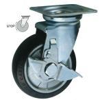東正車輌 ゴールド キャスター 車輪 WJ-75RB-S 中荷重 プレート 自在式
