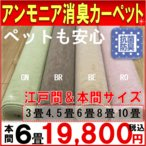 カーペット 本間 6畳 絨毯 じゅうたん ペット対応 本間6帖カーペット マレット