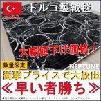 ラグ 6畳 じゅうたん 安い 激安 ブラック 黒 モダン トルコ カーペット 6帖  廃盤ネプチューン 約6畳 240×330cm