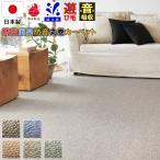カーペット 6畳 絨毯 じゅうたん はっ水 防音 防ダニ 防炎 抗菌 防臭 丸巻き 日本製 品名 PPミックス 江戸間 6畳 261×352cm